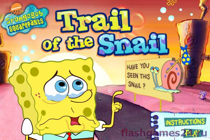Sponge bob trail on the snail