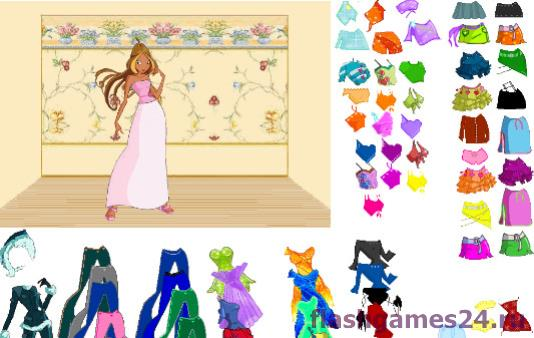 Winx Dressup Game 2
